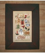 Red-Green Pine Primitive Frame 5.5 x 8.5 opening cross stitch frame  - £12.11 GBP