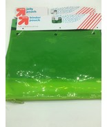 2x TWO NEW Up & Up Binder Pouch NEON CLEAR Green Cam - $10.24