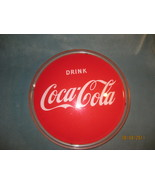 Coca Cola lighted button 1950's plastic and metal - $325.00