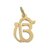 24K Gold Plated Sikh Punjabi Charm There is one God is One Pendant Ik On... - $15.83