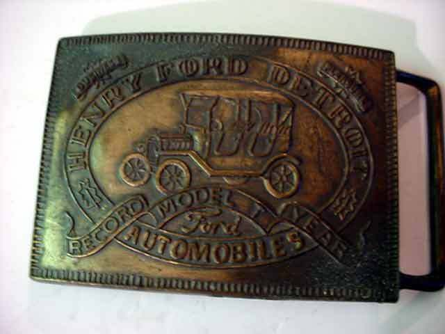 Henry Ford Model T Automobile Belt Buckle PC2020340010 Vintage Old Automobile