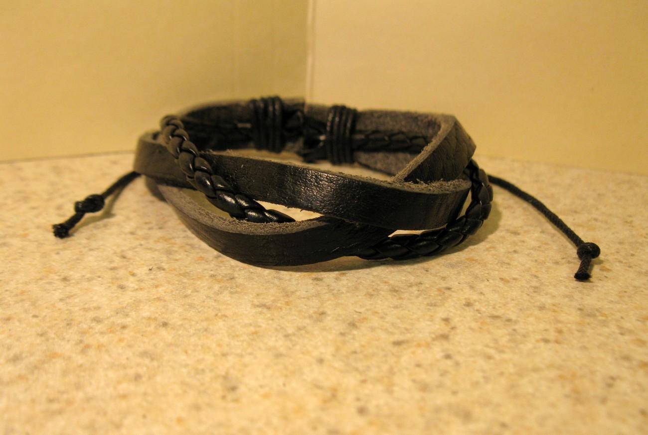 123 black weave bracelet