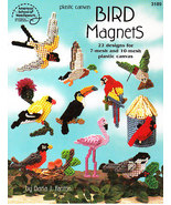 ** 22 * Plastic Canvas BIRD MAGNET Patterns - $2.99