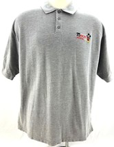 """Disney World Embroidered Knit Polo XL - """"75 YEARS With Mickey"""" Walt Mouse Shirt - $17.84"""