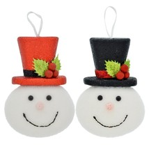 Christmas House Plastic Snowman Face Ornament 6 in.  - $2.00