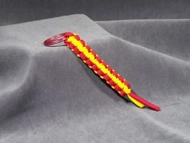 Paracord Keychain Red & Yellow Cobra stitch.   - $4.00