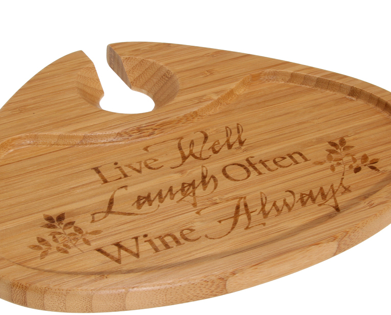 Live Well Bamboo Party Plate