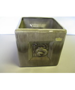 Vintage Royal Haeger Pottery Grey Cube Planter Pot R663 USA  - $47.99
