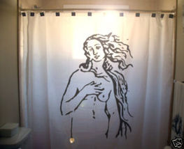 SHOWER CURTAIN Birth of Venus Rising Sandro Botticelli - $99.99