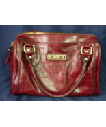 Relic Brand Burgundy Faux Croc Doctor Bag Style - Nice Clean Condition - $14.00