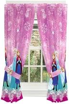 Disney Frozen Kids Room Window Curtain Panels With Tie Backs 82 X 63 Dar... - $65.19
