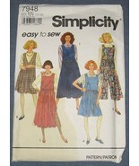 Simplicity 7948 Size 10 12 14 16 Jumpers sewing... - $6.50
