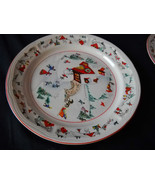 Katherine Babonovsky White Christmas dinner plate (6 available) - $13.99