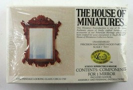 Vintage House Of Miniatures Chippendale Looking Glass #42403 New Sealed - $12.95