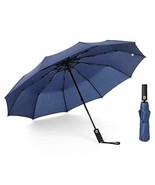 JOURNOW Windproof 10 Ribs Auto Open and Close Travel Umbrella with 210T ... - $47.03