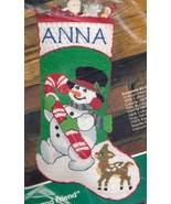 Bucilla Frosty and Friend Snowman Deer Longstitch Needlepoint Stocking K... - $124.95