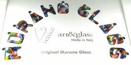Pendant, Letter Glass Murano, Initial T, Length 2.5 CM, Murrine image 3