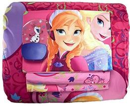 Disney Frozen Twin 4 Piece Bedding Set and 3D Motion Effect Olaf Night L... - $89.97