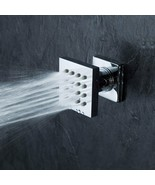 Brass Square 16-Nozzle Massage Shower Body Jet Spray Head, Brushed Nickel - $47.50