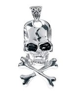 Ebros Gift Design Doranne Ancient Skull Cross Bones Pendant Gothic Theme... - $22.76