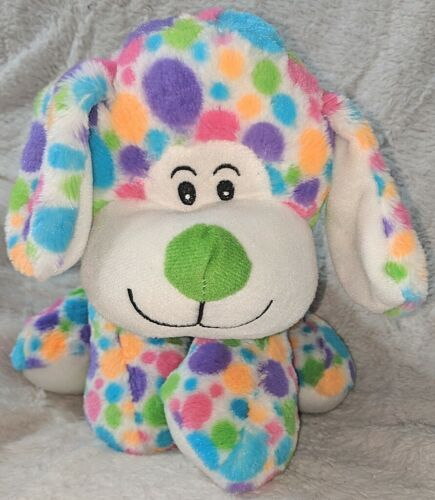 Fiesta Mod Squad A51766 12 inch Multi Colored Polkadots Floppy Dogs