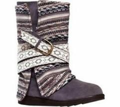 Muk Luks Women's Nikki Belt Wrapped Boot - Grey - Size: 7 - $45.53