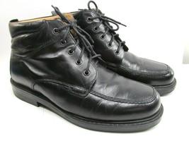 Florsheim Chukka Lace Up Boot Shoes Mens Black Apron Toe Size 9.5 M - $28.13