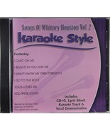 Songs of Whitney Houston Volume 2 Karaoke Style NEW CD+G Daywind 6 Songs - $15.86