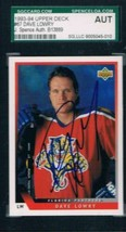 1993-94 Upper Deck #67 David Lowry Panthers JSA Auto - $19.75