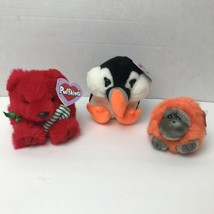 Lot Of 3 Vintage 90s Puffkins Plush Swibco - $18.29