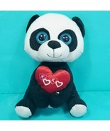 Panda Bear Black White Valentines Plush Stuffed Animal I Love You XOXO 1... - $17.81