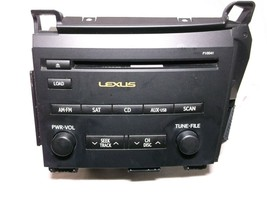 11-12 Lexus CT200H RADIO/AM-FM/AUDIO/RECEIVER/CD/SAT - $185.13