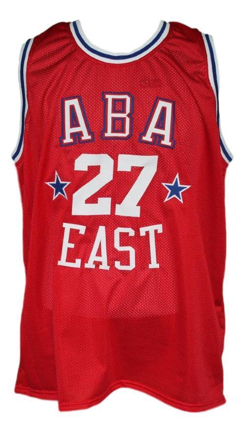 Caldwell jones  27 aba east basketball jersey red   1