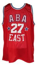 Caldwell Jones #27 Aba East Basketball Jersey New Sewn Red Any Size image 1