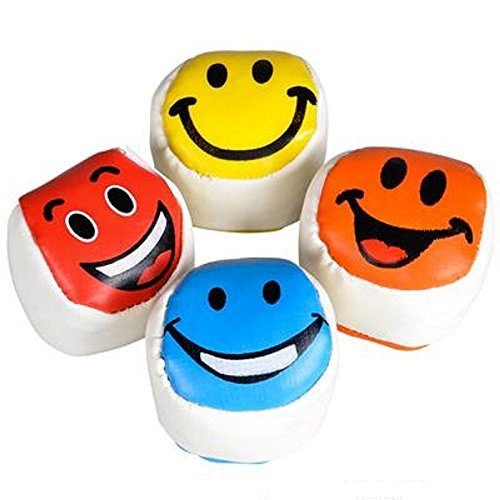 "Primary image for 2"" Smiley Face Footbag, Assorted Colors. 24 Pieces."