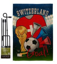 World Cup Switzerland Soccer Burlap - Impressions Decorative Metal Garde... - $33.97