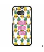 MsMr HTC M8 Case Hard Plastic Case Cover for HTC M8 - Good Vibes Only On... - $9.89