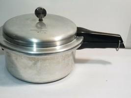 MIRRO-MATIC 6 Quart Aluminum Pressure Cooker Canner USA 396 M 1947 - $39.19