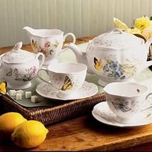 Tea Set Porcelain Service Teapot Pack 2 Cups Vintage Saucer Home Kitchen... - $111.90