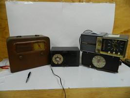 Lot of 4 Vintage Clock Radios General Electric Philco Motorola - $54.69