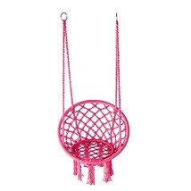 LAZZO Hammock Chair Hanging Knitted Mesh Polyester Rope Macrame Swing, 1... - $48.37