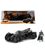 Arkham Knight Batmobile with Batman Diecast Figure 1/24 Diecast Model Ca... - $51.94