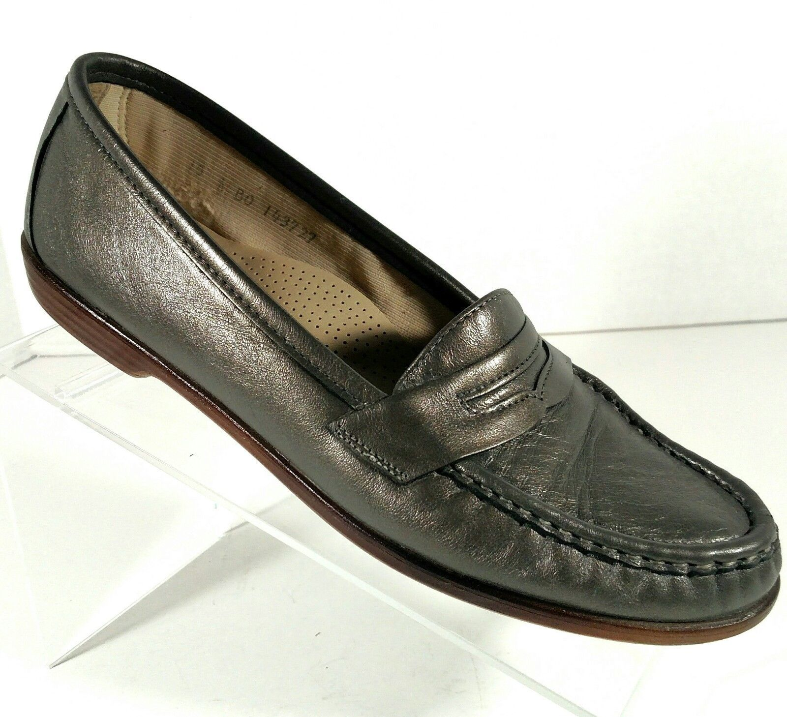 f3c6ed844ef S l1600. S l1600. Previous. SAS Tripad Comfort Shoes Penny Loafer Slip On  Grey Leather Women s Size 10