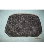 Vintage black beaded bag, purse - $95.00