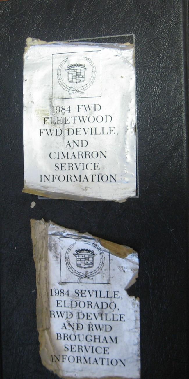 Cadillac 1984 Models Shop Service Info Manual FWD & RWD 7 Models Covered
