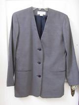 Liz Claiborne Navy Checked Blazer Jacket Womens 6 MINT - $16.99