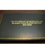 COIN COLLECTIONS-Statehood quarter dollars- 24K... - €24,85 EUR
