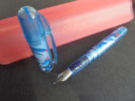 PELIKAN CON TUCANO PENNA STILOGRAFICA BLU + SCATOLA Fountain Pen +BOX OR... - $22.40