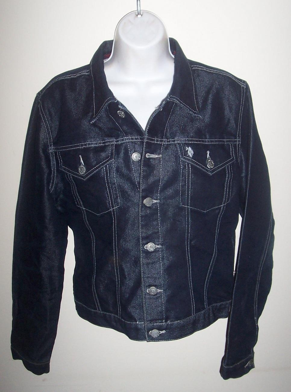 U.S. Polo Dark Blue Denim Jacket Ladies Large image 2