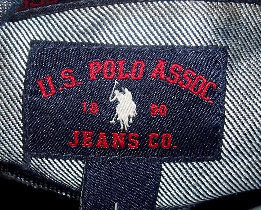 U.S. Polo Dark Blue Denim Jacket Ladies Large image 3